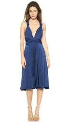 Twobirds Tea Length Convertible Dress Navy
