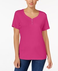 Karen Scott Henley T Shirt Only At Macy's Wild Punch