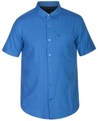 Hurley Men's One And Only Short Sleeve Shirt Mid Turquo