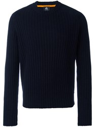 Paul Smith Ps By Crew Neck Ribbed Jumper Blue