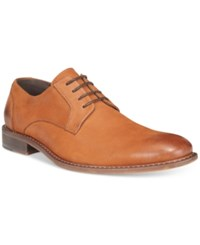 Kenneth Cole Reaction Men's Found It Plain Toe Nubuck Lace Ups Men's Shoes Cognac