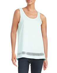 Lord And Taylor Embroidered Cotton Tank Aries