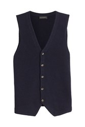 Baldessarini Virgin Wool Vest Blue