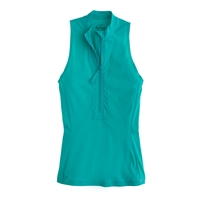 J.Crew Sleeveless Zip Rash Guard Aqua Sea