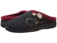 Acorn Dara Charcoal Button Women's Shoes Black