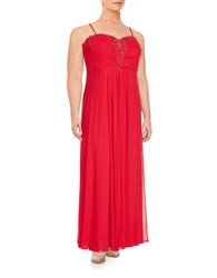 Xscape Evenings Beaded Gown Red