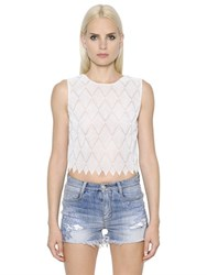 Ermanno Scervino Cropped Lace Top