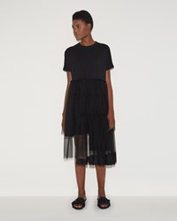 Simone Rocha Three Tier Tee Dress Black