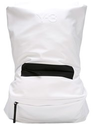 Y 3 Large Bicolour Backpack White