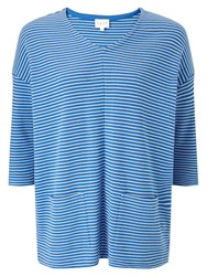 East Stripe Rib Jersey Top Ocean