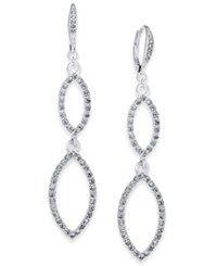 Inc International Concepts Silver Tone Pave Double Drop Earrings Only At Macy's