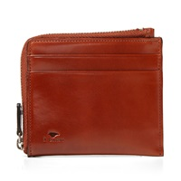 Il Bussetto Zip Wallet Light Brown