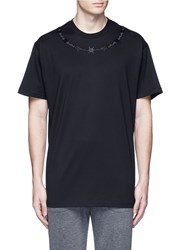 Givenchy Barb Wire Embroidery T Shirt Black