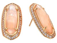 Kendra Scott Aston Earrings Rose Gold Peach Illusion Earring