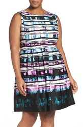 Vince Camuto Plus Size Women's Abstract Print A Line Dress