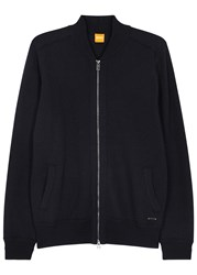 Boss Karerb Navy Wool Sweatshirt