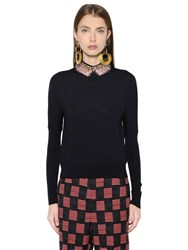 Marni Embroidered Wool And Silk Blend Sweater
