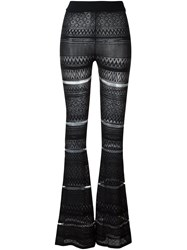 Mcq By Alexander Mcqueen Geometric Knitted Trousers Black