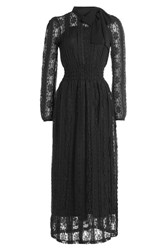 Red Valentino Lace Dress With Bow At Neck Black