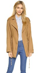 Alice Olivia Devyn Oversized Jacket Tan