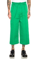 Craig Green Quilted Workwear Trousers In Green