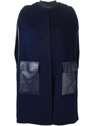 Raoul Sleeveless Coat Blue