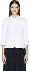 Tricot Comme Des Garcons White Collared T Shirt