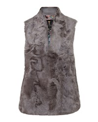 Ted Baker Nikky Shearling Fur Gilet Grey