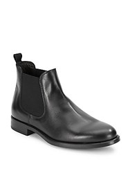A. Testoni Beatles Slip On Leather Boots Nero