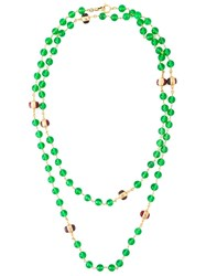Chanel Vintage Beaded Necklace Green