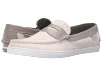 Cole Haan Pinch Weekender Moonbeam Canvas Ironstone Leather Men's Slip On Shoes Pink