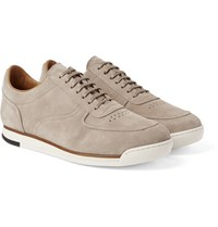 John Lobb Porth Suede Sneakers Stone