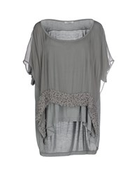 Le Ragazze Di St. Barth Topwear T Shirts Women Grey