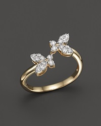 Bloomingdale's Diamond Butterfly Ring In 14K Yellow Gold .35 Ct. T.W.