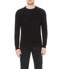 Reiss Wakely Ribbed Knit Jumper Black