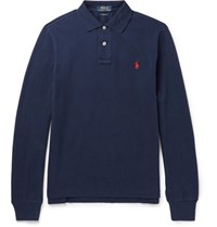 Polo Ralph Lauren Lim Fit Cotton Pique Hirt Navy