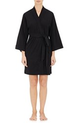Skin Women's Cotton Jersey Wrap Robe Black