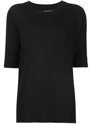 Alexandre Plokhov Three Quarter Sleeve T Shirt Black
