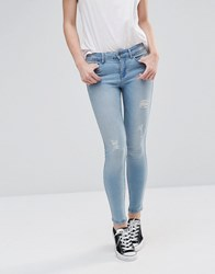 Noisy May Lucy Ripped Jeans 30'' Light Wash Blue