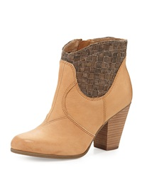 Luxury Rebel Kara Nubuck Leather Bootie Ginger Ale