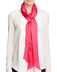 Echo Solid Long And Skinny Silk Scarf Pink Raspberry