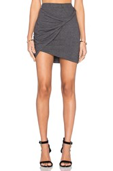 Lna Double Layer Mini Skirt Gray