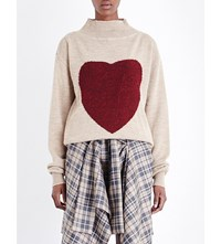 Anglomania Heart Frost Knitted Jumper Flesh