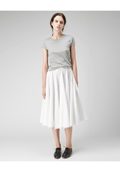 Organic By John Patrick Eyelet Cotton Skirt White
