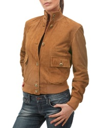Forzieri Women's Tan Italian Suede Two Pocket Jacket