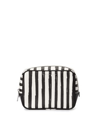 Marc By Marc Jacobs Sophisticato Painted Flower Pouch Black White