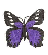 Nancy Gonzalez Butterfly Bag Clip Female Black Purple