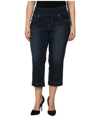 Jag Jeans Plus Caley Pull On Crop Classic Fit In Blue Shadow Blue Shadow Women's Jeans