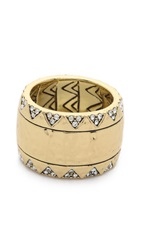 House Of Harlow Safari Band Ring Gold