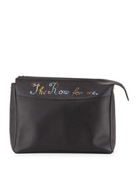 The Row For Me Bindle Clutch Bag Black